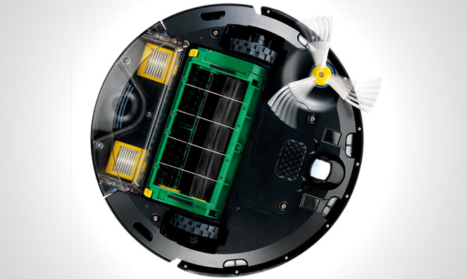 Bottom View of an iRobot Roomba 560