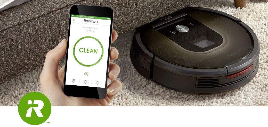 download the irobot home app for the roomba vacuuming robot. Black Bedroom Furniture Sets. Home Design Ideas