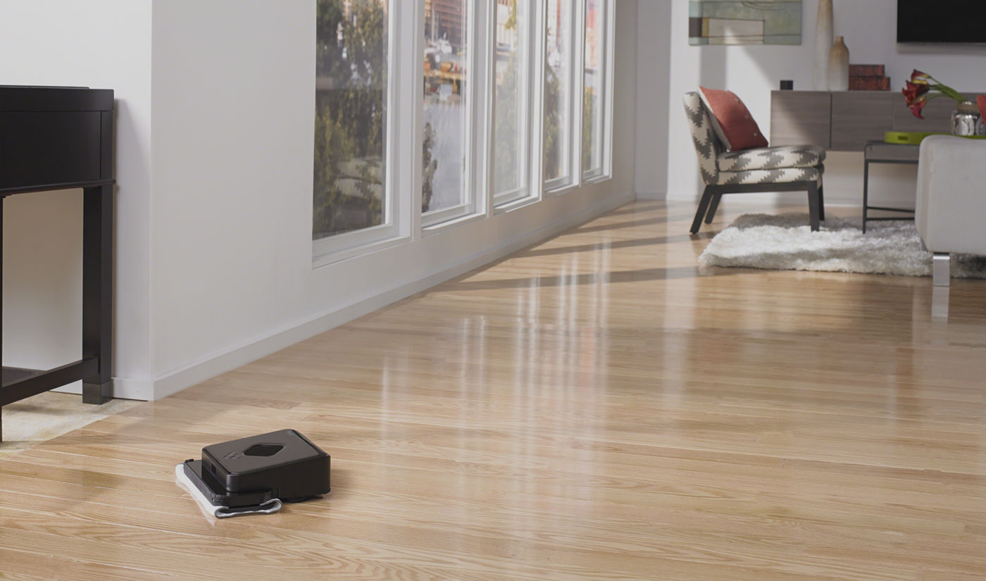 Braava 300 series mopping robot for multiple rooms
