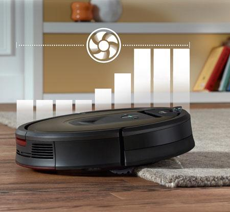 iRobot Roomba carpet boost provides up to 10x the air power