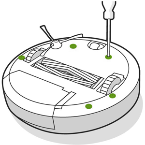 How do I Replace the Roomba® Edge Sweeping Brush Module and
