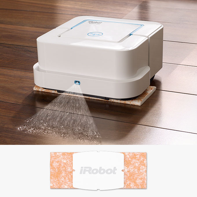 Damp Sweeping Cleaning Pad uses a double-pass cleaning pattern for everyday dust and dirt