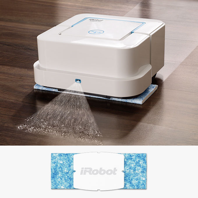 Wet Mopping Pad uses a triple-pass cleaning pattern and Vibrating Cleaning Head to tackle dirt and stains