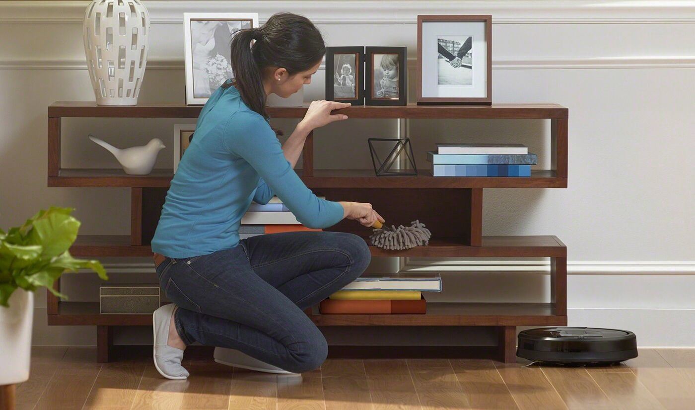iRobot Roomba can vacuum all floor surfaces and even get under furniture