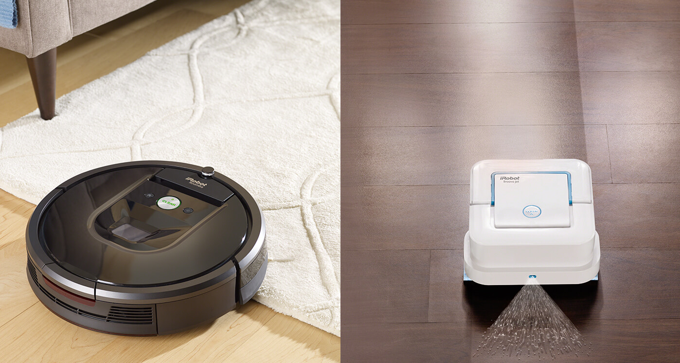 iRobot Roomba 980 Vacuuming Robot and iRobot Braava jet Mopping Robot